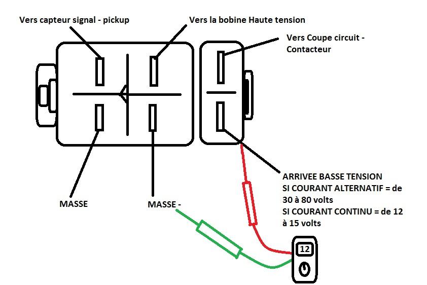 partie  u00e9lectrique contacteur neman contacteur a cles coupe circuit allumage demarreur batterie