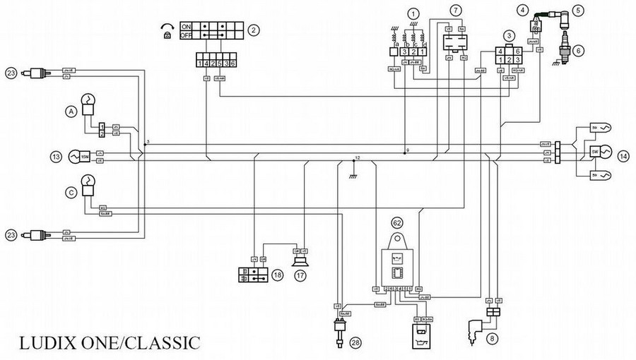 allumage peugeot vivacity Electric Motor Wiring Diagram schema 20electrique 20ludix 20one